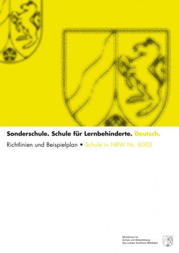 Deutsch - Schule für Lernbehinderte. Richtlinien und Beispielplan