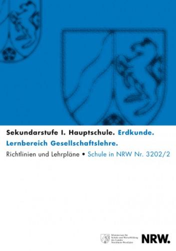 Erdkunde  - Richtlinien/Lehrpläne, Hauptschule