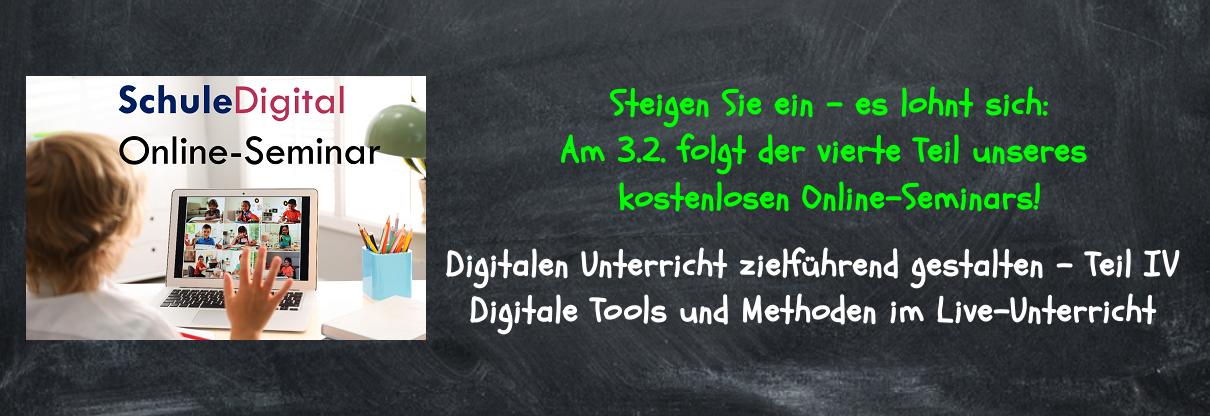 Online-Seminar Distanzunterricht