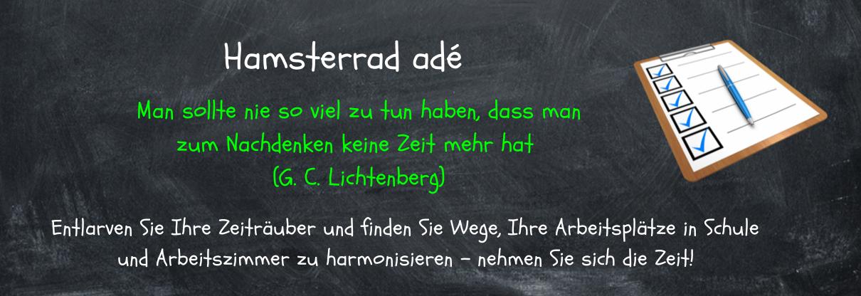 Hamsterrad adè - Zeit- und Selbstmanagement