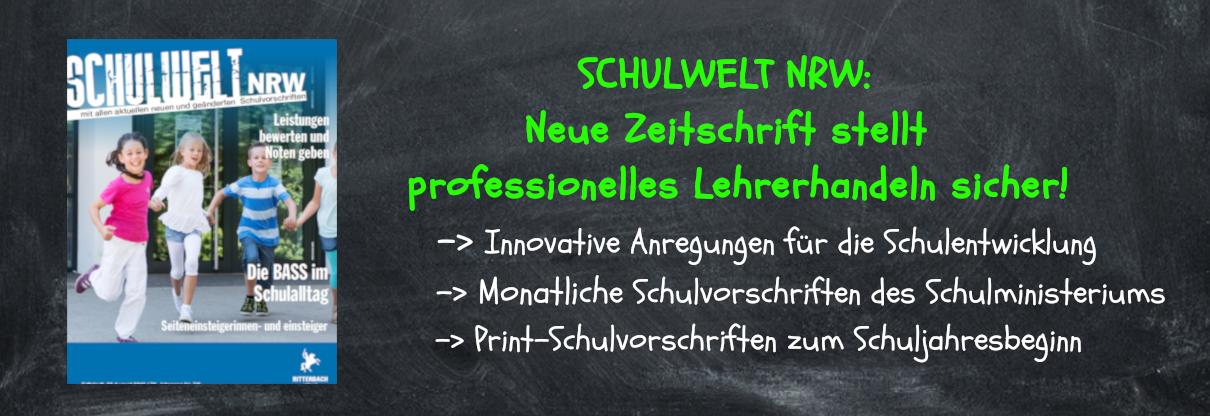 Zeitschrift Schulwelt NRW