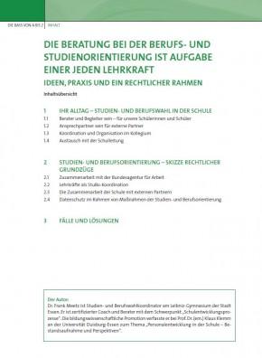 Die Beratung bei der Berufs- und Studienorientierung